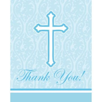 Faith Blue Thank You Cards 8 Per Pack - 1