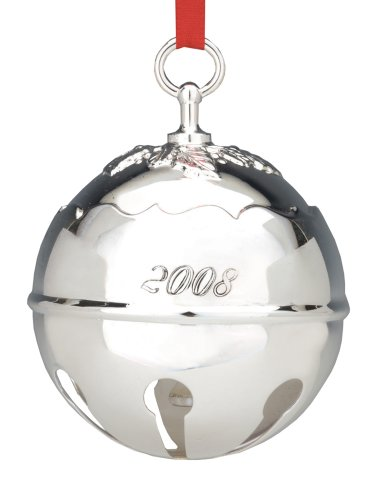 Reed & Barton 2008 Silverplated Holly Bell Ornament