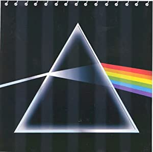 Pink Floyd Dark Side Moon Fabric Bathroom Shower Curtain