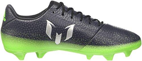 adidas Herren Messi 16.3 FG Fußballschuhe, Grau (Dark Grey/Silver Met./Solar Green), 44 2/3 EU -