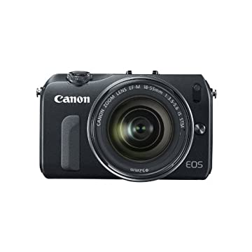 Canon EOS M 18MP Mirrorless Camera with EF-M 18-55mm IS STM Lens