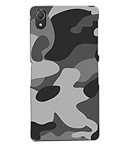 Fuson Millitary Pattern Back Case Cover for SONY XPERIA Z2 - D3683