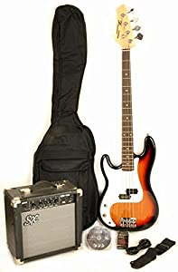 Ursa 1 RN PK 3TS LH Left Handed Bass Guitar Package w/BA1565 Amp, Carry Bag & Instructional DVD by SX
