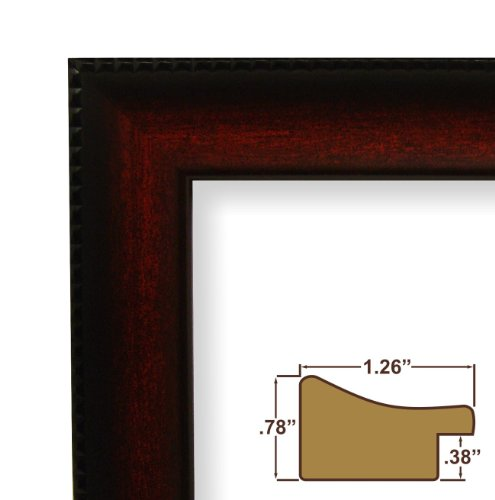 8x12 picture poster frame smooth finish 126 wide dark mahogany