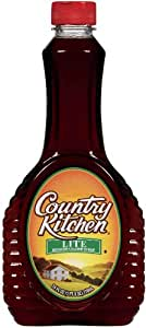 Country Kitchen Lite Reduced Calorie Syrup, 24-Ounce Bottles (Pack of 12)