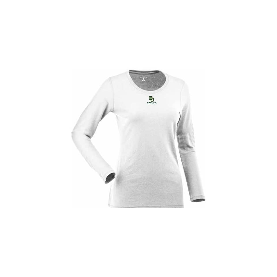 Baylor Womens Relax Long Sleeve Tee (White)