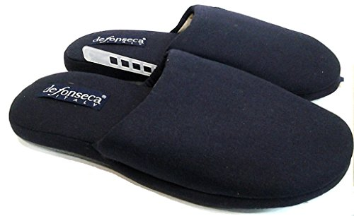 DE FONSECA pantofole ciabatte da uomo in cotone mod. BASIC U65 BLU (40/41)