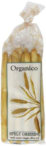 Organico Spelt Organic Grissini 120 g (Pack of 8)