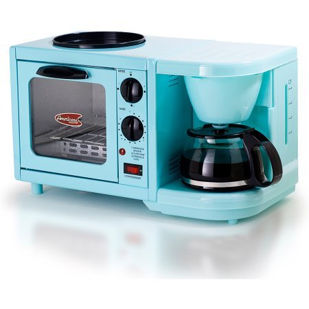 Americana-by-Elite-EBK-200BL-3-in-1-Mini-Breakfast-Shoppe-Coffee-Toaster-Oven-Griddle-Mint-Blue