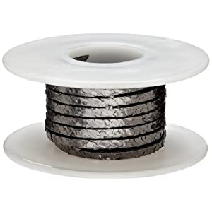"Wire Compression Packing Seal, Shiny Gray, 1/8"" Square, 5' Length"