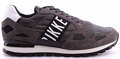 Scarpe Uomo Sneakers BIKKEMBERGS BKE 108524 Fend Er 738 Suede Nylon Antracithe