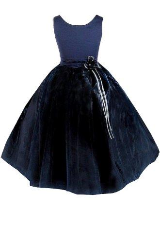 Amj Dresses Inc Girls Navy Flower Girl Pageant Dress Size 8
