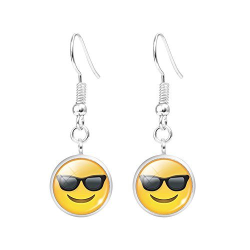 Emoji-Face-Earrings-Set-Assorted-Amusing-Smiley-Emoticon-Dangle-Gift-Earrings-B