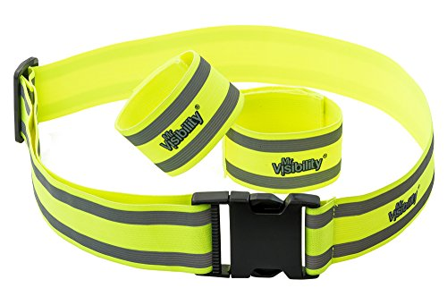 Mr Visibility Reflective Belt Vest Combo (2 Reflective Bands + 1 Reflector Belt) provides High Visibility for Running, Cycling, Walking & Biking. The Best Reflective Running Gear and Outdoor Clothing!