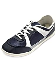 Globalite Men's Grey White Blue Mesh Casual Shoes-UK 6 (GSC0367)