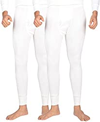 Dora Men's Poly Cotton Thermal Pants (Pack of 2, 1151-Off White_95, Off White, 95)