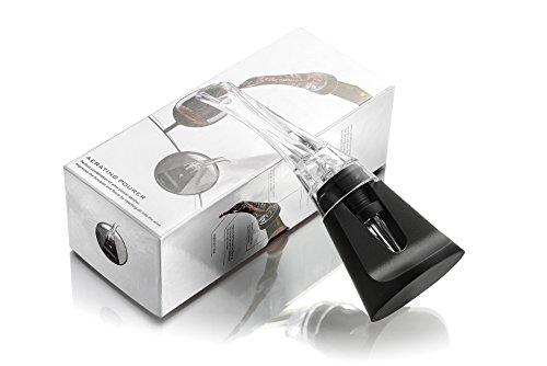 TSYMO Aérateur Verseur de vin 2-en-1 Décanteur portable avec Support offert