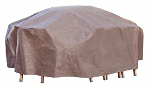 Duck Covers Mto10984 Outdoor Patio Furniture Cover For Rectangle And Oval Tables With Duck Dome Airbag from Flexible Storage Group