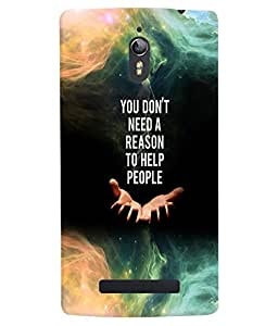 PRINTVISA Quotes Case Cover for Oppo Find 7