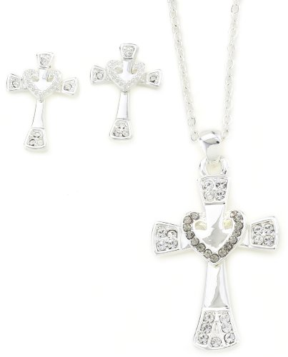 Western Edge Cross My Heart Jewelry Set