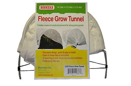 Bosmere L836 Fleece Tunnel Plant Row Cover, 10-Feet