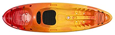 9351406042 Perception Kayak Access Sunset Kayak, Red/Yellow, Size 9.5 by Confluence Kayaks