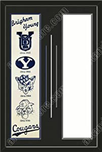 Brigham Young Cougars & Your Choice of other Team Heritage Banner Framed-House... by Art and More, Davenport, IA