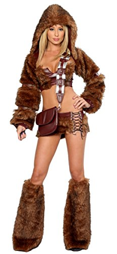 Q-Lingerie, Women's Galaxy Warior Quality Costume Vinyl Faux Fur Leg Warmer CS05