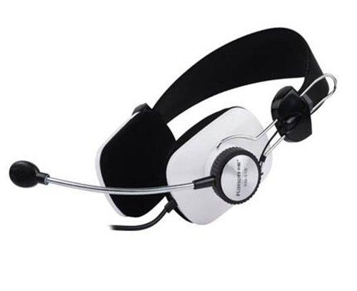 Gaming Headset Kopfhörer KM-510 Klinke Multiplayer Skype Teamspeak Weiß