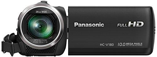 Panasonic HC-V180EG-K Camcorder (Full HD, 50p, 50x optischer Zoom, 77x intelligenter Zoom, 28 mm Weitwinkel, Optischer 5-Achsen Bildstabilisator Hybrid OIS+) schwarz