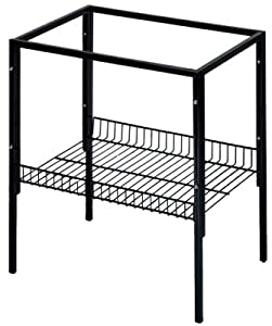Blue Ribbon Deluxe Cage Stand, 24-1/2-Inch by 18-1/2-Inch by 26-Inch, Black