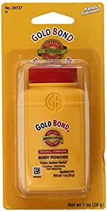 Handy Solutions Gold Bond Medicated Body Powder, 1 Ounce  (Pack of 8)
