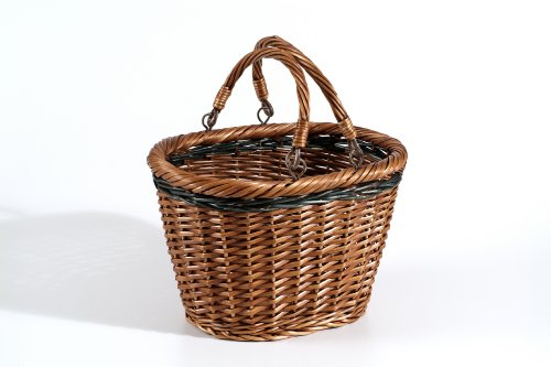 Nantucket Bicycle Basket Co. Miacomet Collection (oval with quick release, 2 handles) Bike Basket