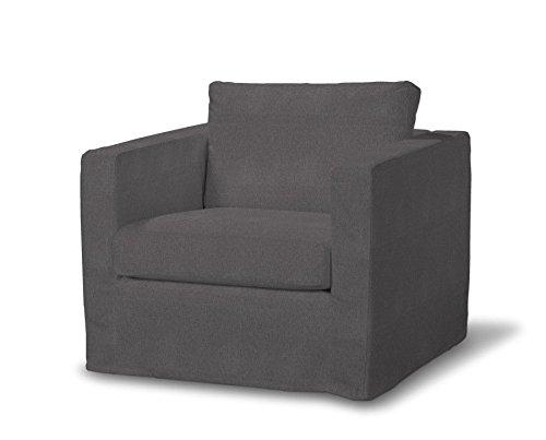 FRANC-TEXTIL 620-705-35 Karstad sillón funda de largo, funda sillón, Karlstad sillón, Etna, gris oscuro
