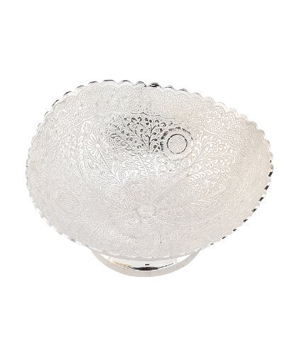 Beautiful Brass Bowl Handmade Silver Plating Attractive Box Packing