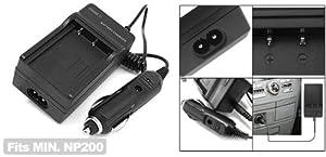 Digital Camera Battery Car Home Charger for Minolta NP 200