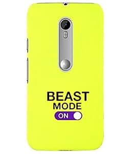 KolorEdge Back Cover For Motorola Moto X Style - Yellow (5867-Ke15158MotoXStyleYellow3D)