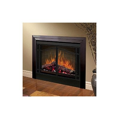 """Electraflame 39"""" Built-In Electric Firebox With Swing Doors And Trim"""