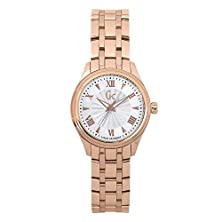 buy Guess Collection Y03005L3 32Mm Gold Plated Stainless Steel Case Rose Gold Gold Plated Stainless Steel Mineral Women'S Watch