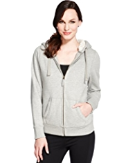 M&S Collection Zip Through Hooded Top