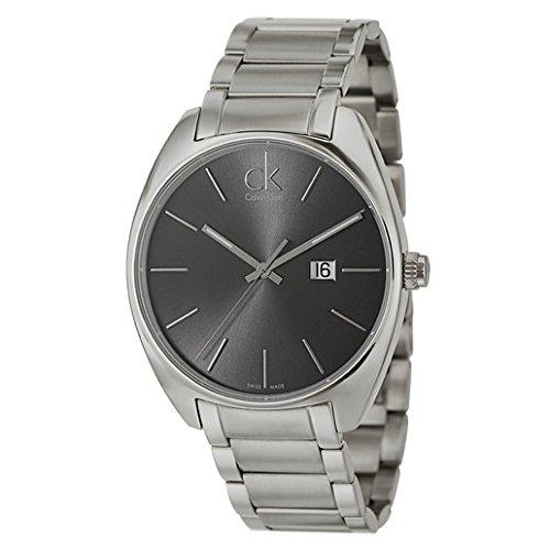 Calvin Klein Men's K2F21161 Exchange Analog Display Swiss Quartz Silver Watch Calvin Klein Dress Watch