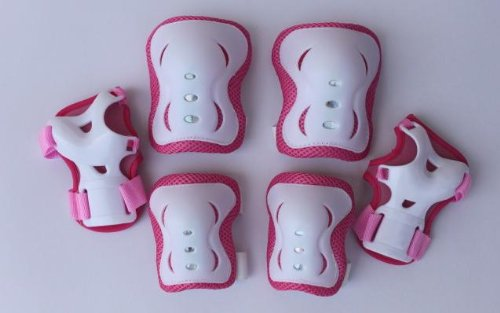 For Sale! Fantasycart Kid's Roller Blading Wrist Elbow Knee Pads Blades Guard 6 PCS Set in Pink &amp...