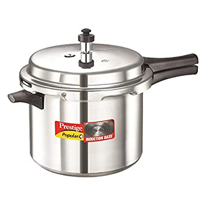 Prestige Popular Plus Aluminium 6.5 L Pressure Cooker (Induction Bottom,Outer Lid)