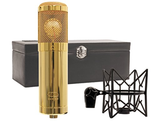 Mxl Gold 35 Limited Edition Large Diaphragm Condenser Microphone With Shock Mount Leather Case And Windscreen