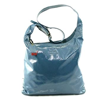 Coach Bleecker Patent Leather Sophie Handbag 12387 (Blue)