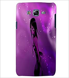PrintDhaba Stylish Girl D-4008 Back Case Cover for SAMSUNG GALAXY ON 5 (Multi-Coloured)
