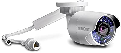 TRENDnet TV-IP322WI Indoor/Outdoor 1.3 MP HD WiFi IP Bullet Camera, 100' Night Vision, MicroSD, DWDR, Android iOS app, ONVIF