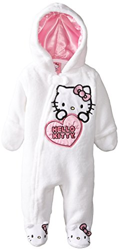 Hello Kitty Baby Baby-Girls Newborn Hooded Pram With 3D Ears, Arctic White, 3-6 Months front-792954