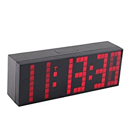 Denshine® Lattice LED Digital Alarm / Countdown/up Clock