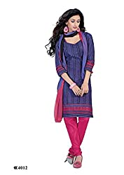 DARPAN TEXTILES Ethnicwear Women's Dress Material Purple_Free Size